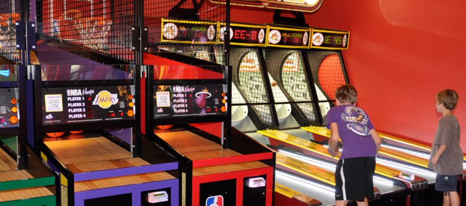 Skee Ball and Basketball Challenge